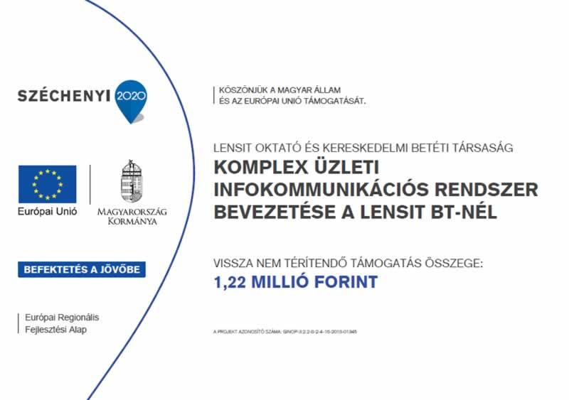 Komplex üzleti infokommunikációs rendszer bevezetése a Lensit Bt.-nél